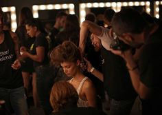 Backstage during Fashion Week - The Big Picture - Boston.com #model #week #the #scenes #behind #fashion