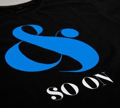 NATRI - and so on - T-Shirt (black): & SO ON ...