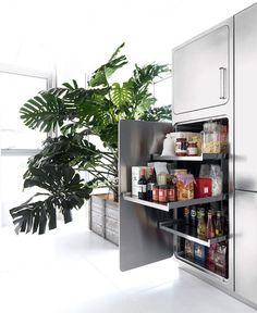 Stainless Steel Kitchen Design by Abimis - #kitchen, kitchen ideas, kitchen design, #furniture