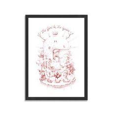 The girl the goose by DULK #print #40x60cm