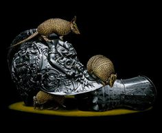 Armadillos surreal animal art