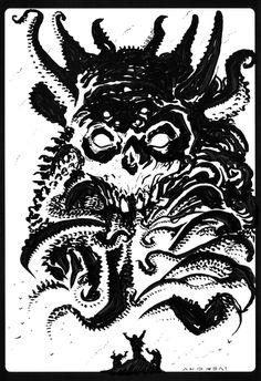 Summoning by francesco-biagini on deviantART #summoning #skull #demon