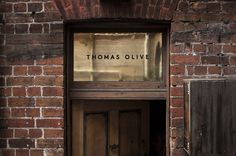 Thomas Olive - David Grbac #type #signage