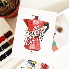 #coffe #watercolor