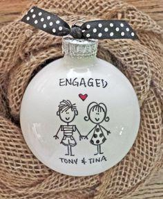 Personalized engagement ornament!