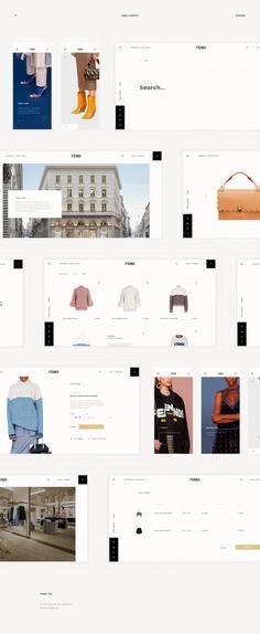 Fendi Redesign Concept (UI/UX)