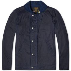 Fidelity USN N-1 Wax Cotton Deck Jacket (Navy) #deck #jacket