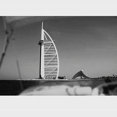 Burj Al Arab - a view from the other side. #seaview #burjalarab #dubailandmark #mydubai #wonder #blackandwhite #boat #photography #sonya6300 #photocomposite #designer #photographer #philkjoe #igdubai #dubaipics #uae #love