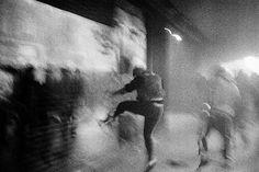 Rohan Thapa #photojournalism #b&w #photography #riot #barcelona