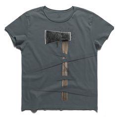 #matelka #smokeblue #tee #tshirt #fields #axe #hatchet #wrong