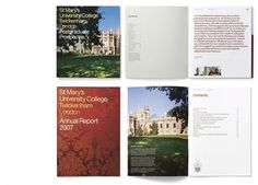 Communicating strong values for St Mary's University College #print #annual #report