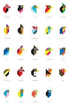Tony Buckland - Designer #birds #geometry