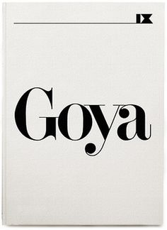 KariusBaktus — the visual journal of Mads Burcharth #goya #typo #poster