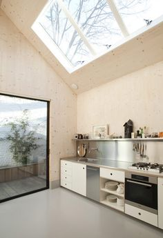Gingerbread House by Laura Dewe Matthews #interior #glass #wood #kitchen #architecture #light