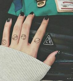 Cute Tiny Finger Tattoos Ideas