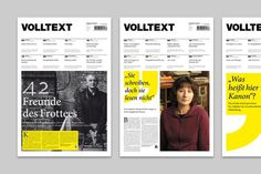 VOLTEXT MAGAZINE, Corporate Design and Editorial Design #corporate # design #bold #colours #clean #devices