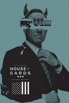 Cool layout and interesting take on House of Cards #poster #keyart