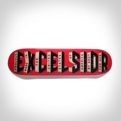 close-up photo of the Ace x Shut Excelsior Skate Deck #skate