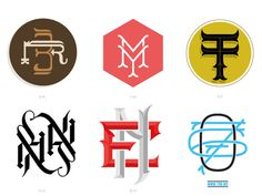 Types & Monograms #letters #icons #monogram #custom #type #typography