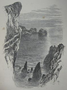 File:The Channel Islands 1862 Ansted Latham 06.jpg #illustration #landscape #pen #sea