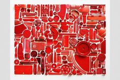 Combination Piece Red No1 & Absent Histories Red No1 – steve mcpherson.co.uk #plastic