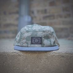 Fourth is King 5 panel camo caps. Made in the USA. #chicago #pattern #branding #camo #design #headwear #hats #streetwear #fashion #logo