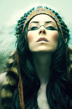 Indian summer mystery at iainclaridge.net #fashion #woman #face #lady #native