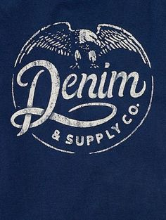 Rustic and grungy stamped logo for Denim & Supply Co. #branding #design #identity #grunge #logo