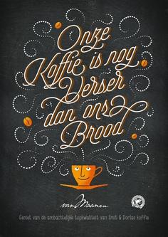 Coffee poster for Bakker van Maanen by The Ad Agency