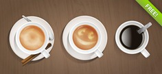 Coffee cups psd graphic Free Psd. See more inspiration related to Coffee, Graphic, Coffee cup, Psd, Horizontal and Cups on Freepik.