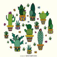 Cactus drawing design http://bit.ly/29levsi