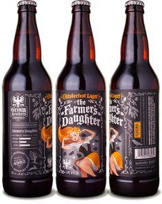beer, illustration, bottle, design, Grimm Bros.