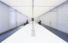 Dezeen » Blog Archive » Logan Offices by SO-IL #offices #interiors #white