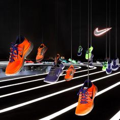 Nike Free 2013 installation by Studio at Large #store #nike #black #stadium
