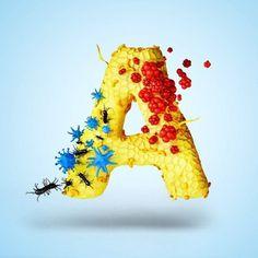 YIPPIEHEY #sickness #bacteria #virus #letter #illness #type #3d