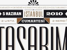 Dribbble - Poster for the design walk in İstanbul by Ömer Durmaz #poster