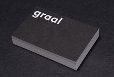 Graal Architecture by Untitled — Paris #business card #graphic design