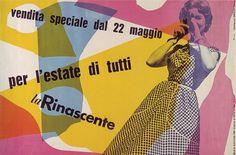 Max Huber, La Rinascente: Per I'estate Di Tutti, 1954 #1954 #max #huber #design #graphic #poster