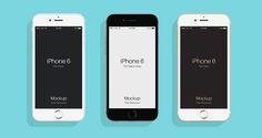 Free Flat iPhone 6 Mockup