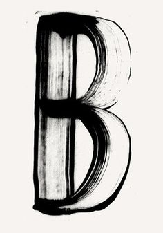 #Typography #B #Letter #FFFFound