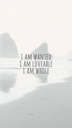 I AM WANTED, LOVABLE AND WHOLE poster #poster #photography #art #typography