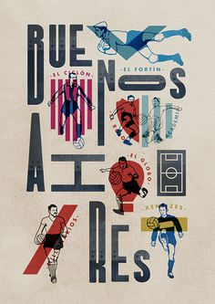 Illustrations and Typography by Jorge Lawerta | Inspiration Grid | Design Inspiration #typography