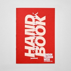 Graphic identity and handbook for London Fashion Week by Pentagram