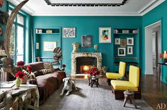 Stefano Pilati's Eclectic Paris Duplex | Miss Design #interior #design #decor #eclectic #duplex