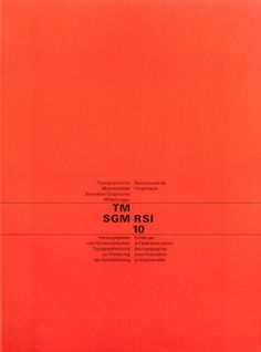 Cover from 1963 Typographische Monatsblätter issue 10