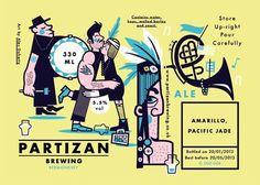 Partizan Brewing Labels #beer