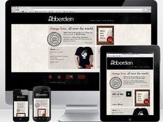 Design Inspiration / Dribbble - Abberdein - Responsive Website by Brian Purkiss #vbcbvb