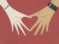 Dribbble - Relationship by Dustin Wallace #illustration #hands