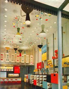 All sizes | More Barton's Bonbonniere! | Flickr - Photo Sharing! #interior #alvin #1950s #architect #gruen #victor #lustig #graphics