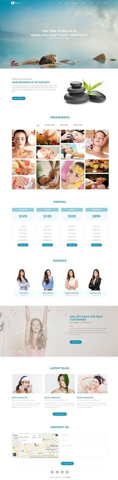 $16 - Beauty Spa Web Design - Froopy Multipurpose template